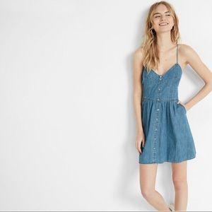 Express Denim Dress button front size M